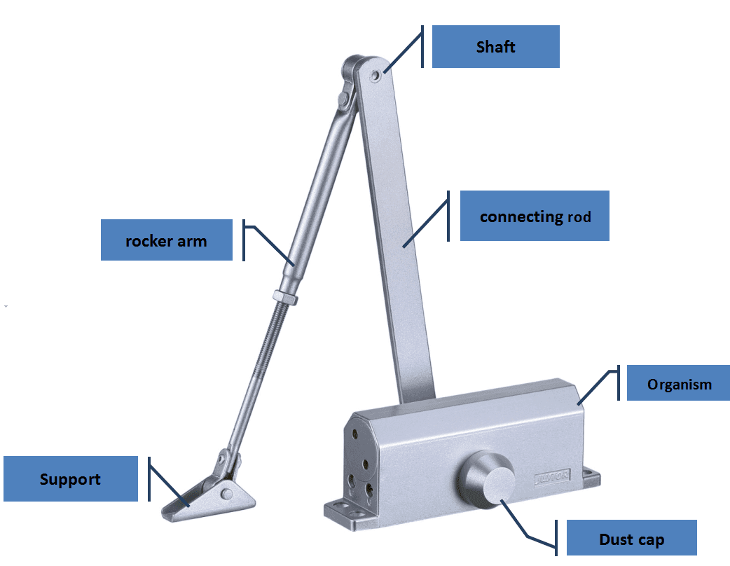 Kaida glass hardware Brand Stainless steel door closer hardware Automatic zinc alloy