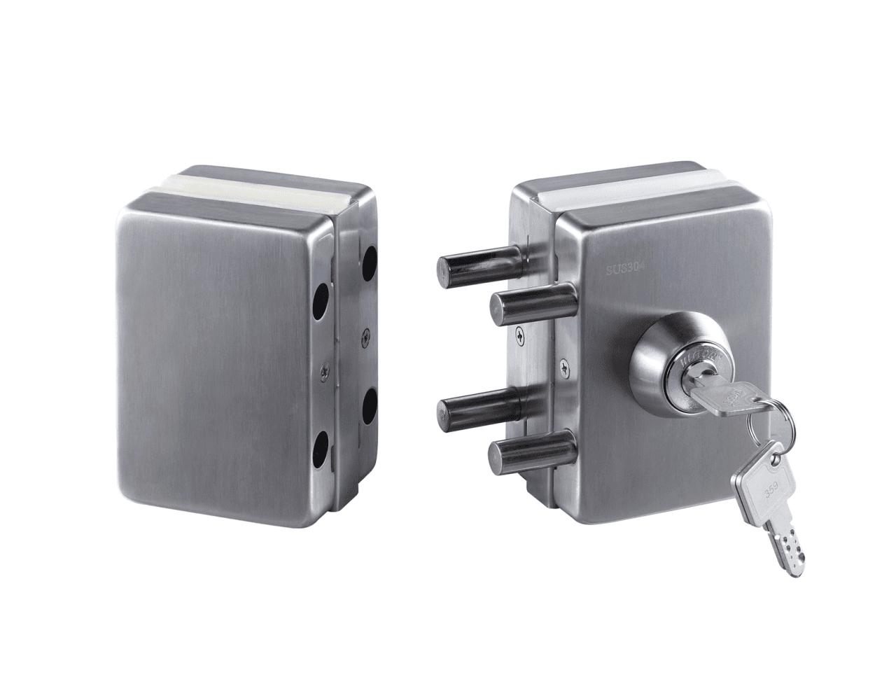 sliding glass door handle with lock glass glass door lock chamber