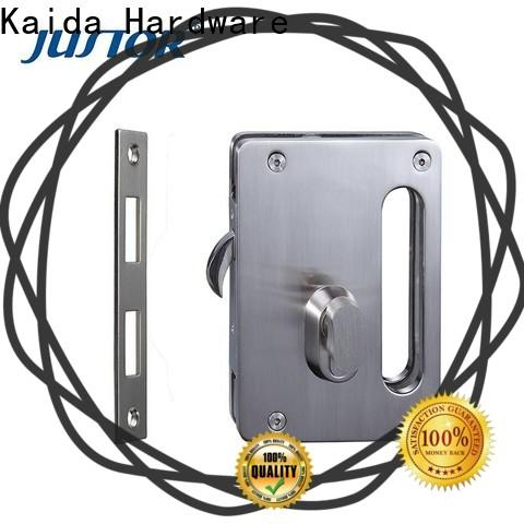 Kaida glass hardware smart biometric frameless glass door lock wholesale for hotel