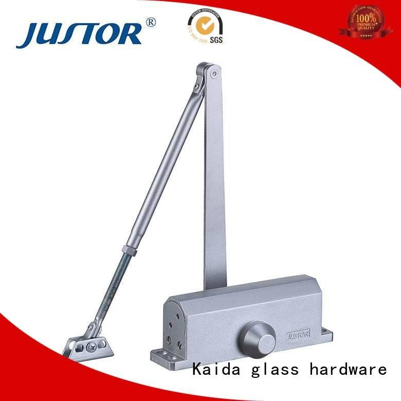 hydraulic positioning Two adjustable speed door closer hardware Kaida glass hardware