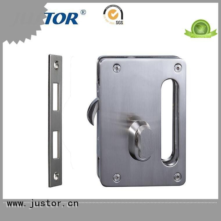 sliding glass door handle with lock chamber Double side glass door lock Kaida glass hardware Warranty