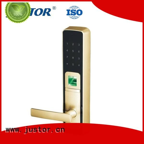 Custom dormitory digital door lock Guesthouse Kaida glass hardware