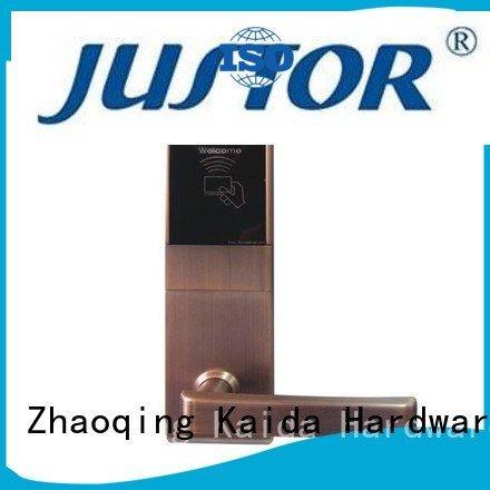 Kaida glass hardware Brand wooden China digital door lock campus hotels
