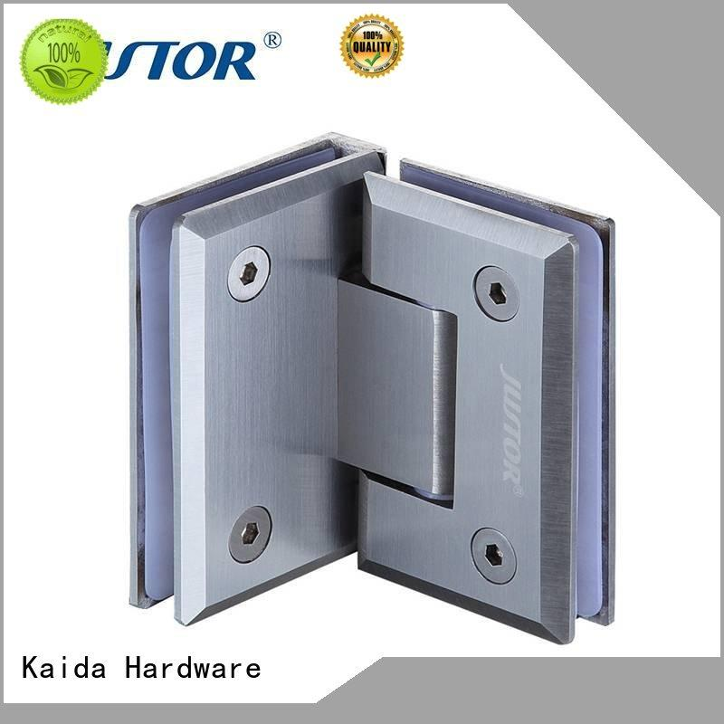 clamp hinges for glass doors bidirectional opening for shower room Kaida glass hardware