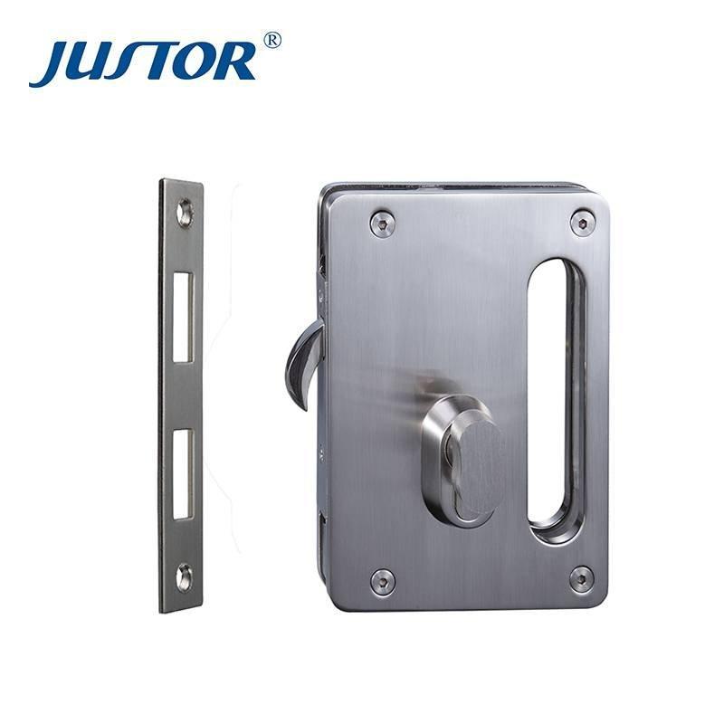 JU-W515 high quality glass door lock, aluminum sliding glass door hardware