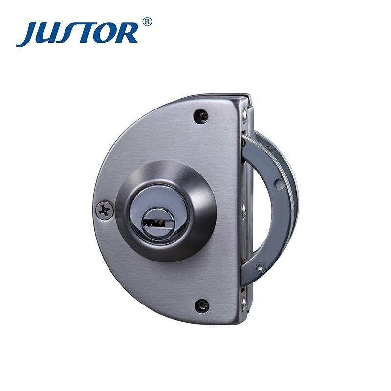 JU-W505 SUS304 stainless steel Half Round Glass Door Lock