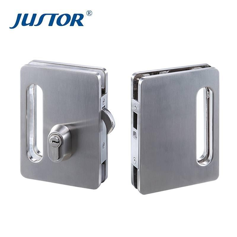 JU-W516 Double side door control high quality sliding glass door lock for glass door