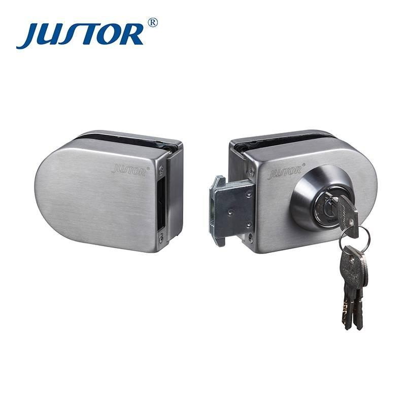 JU-408 New design stainelss steel glass hardware commercial door lock