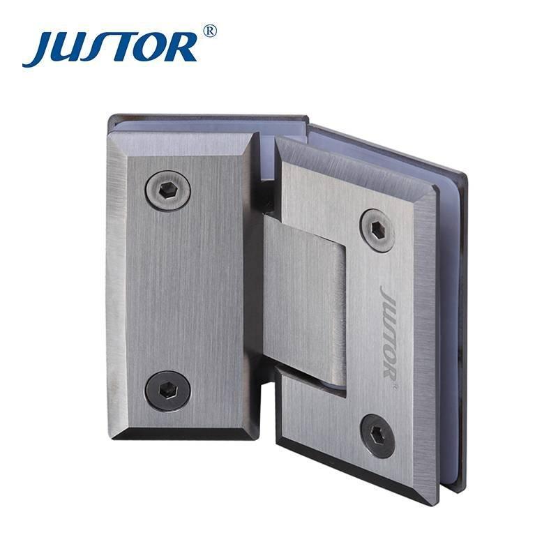 JU-W203 304#Stainless Steel 135 Degree Glass Clamp Shower Door Hinge
