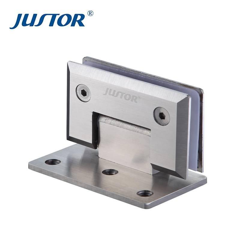 JU-W202 Supply factory price Bevel Fillet stainless steel 90 degree glass to wall shower door pivot hinges