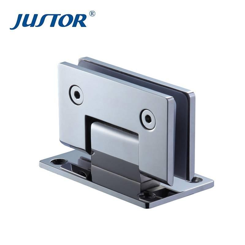JU-W101 bathroom fittings stainless steel glass shower door hinges from JUSTOR