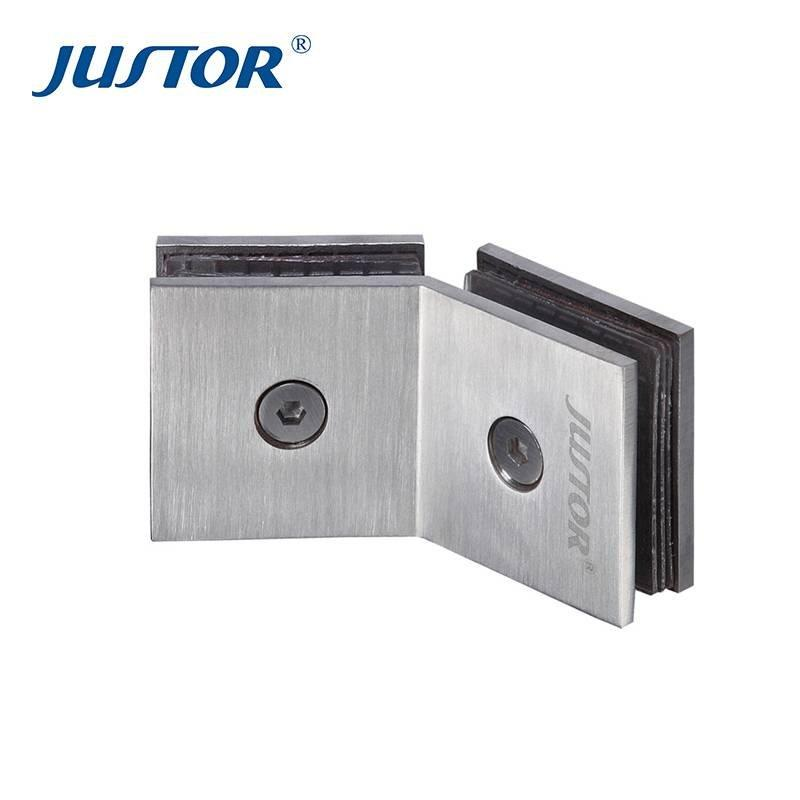 JU-W106 brass door fixed clamp door glass clamp