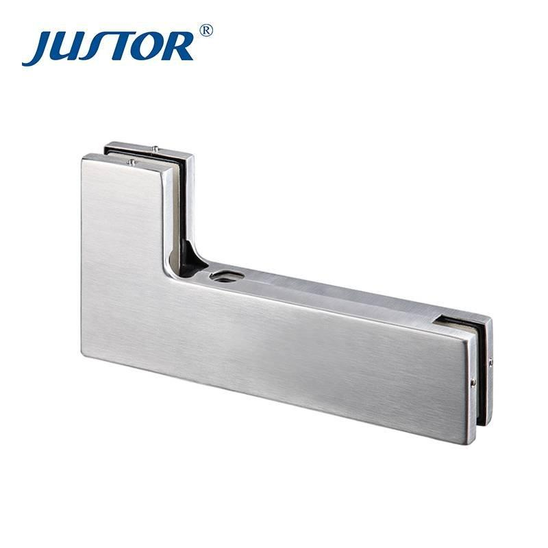 JU-630B Best Quality Die Casting Crank Clamp Glass Clip Door Hardware Bottom Patch Fittings