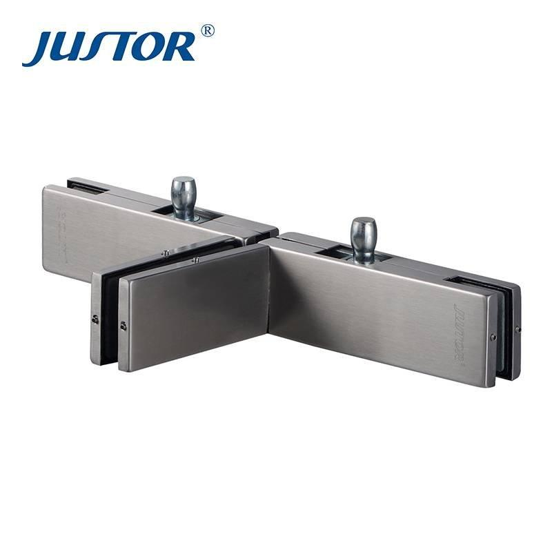 JU-490B manufacturer 304sus bottom patch fitting / stainless steel glass door patch fitting