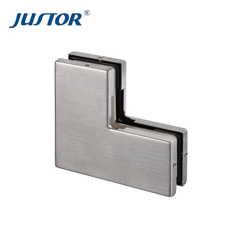 JU-430 304SS cover aluminum alloy material top glass door patch fitting for 8-12mm tempered glass door