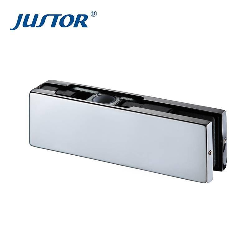 JU-020 High quality hardwarech accessories 304 Stainless Steel bottom glass door patch fitting