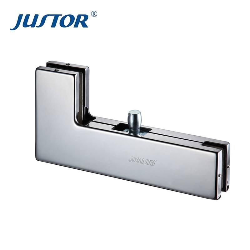JU-040 stainless steel 304# L shape glass door patch fitting