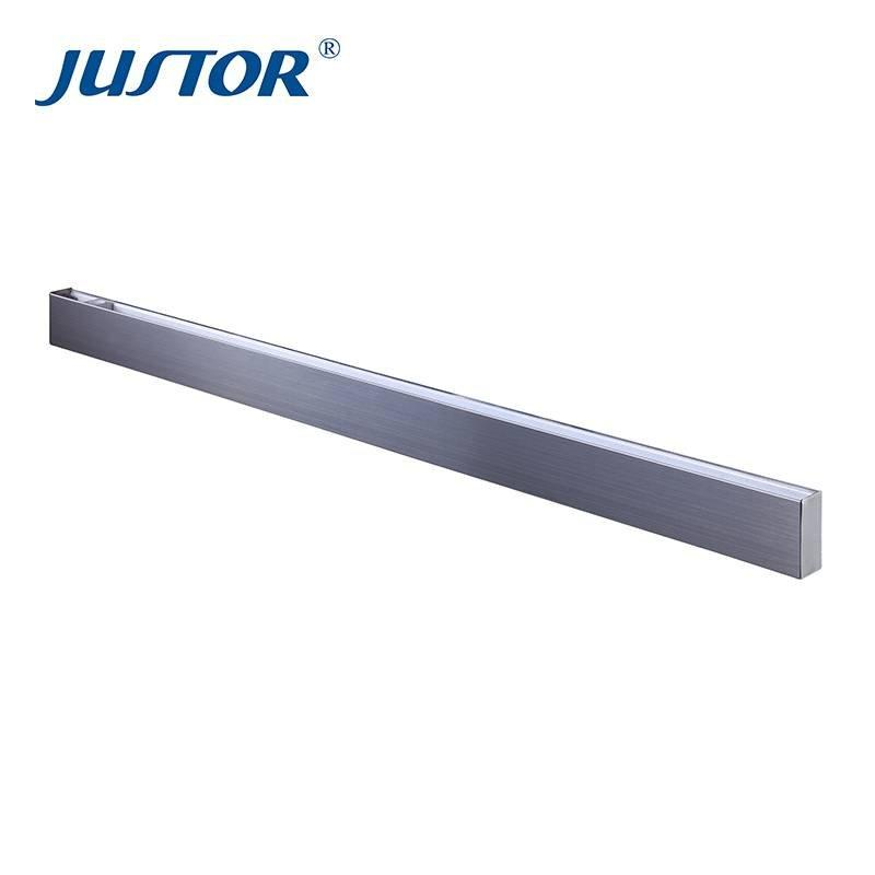 stainless steel long glass door patch fitting JU-20
