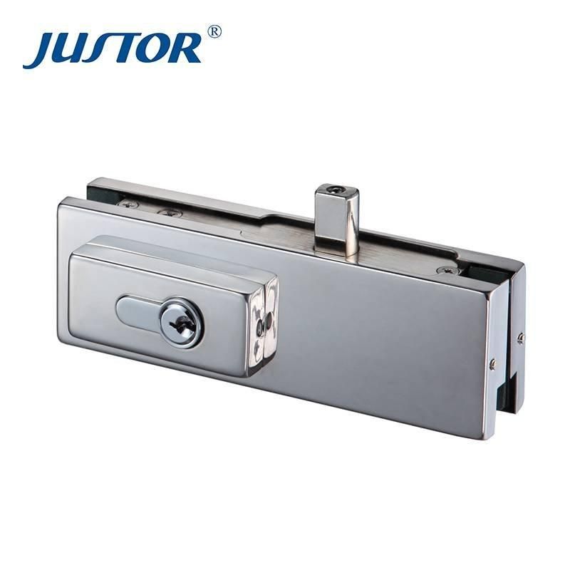 JS-010C stainless steel glass door floor lock patch fitting