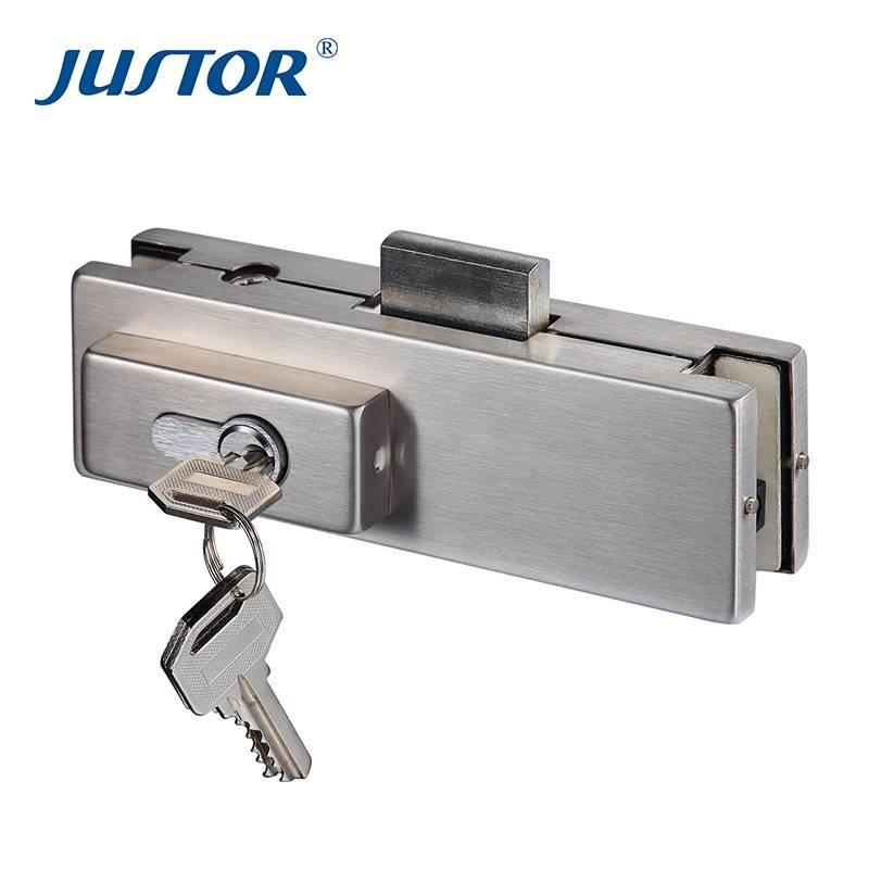 JS-510 Factory directly sell Door Control Hardware stainless steel glass door lock patch fitting