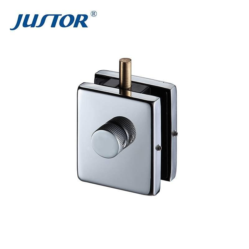 JS-122 stainless steel glass door floor lock patch fitting