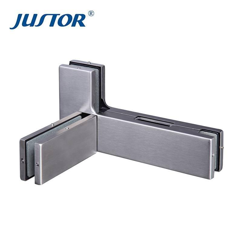 JU-640R stainless steel durable glass swing patch fitting