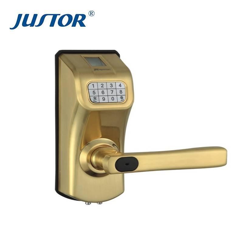 Glass door fingerprint lock