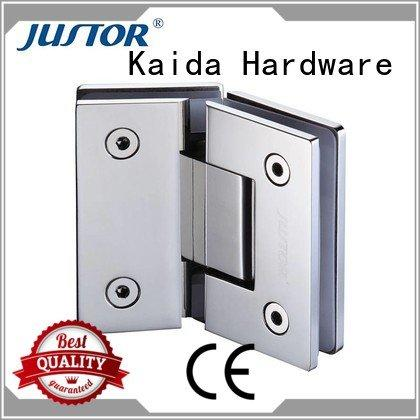 Kaida glass hardware glass to glass hinges Stainless steel 12mm 8mm