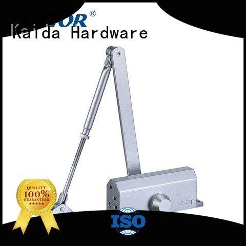 Hot door closer hardware No frame glass hotel rooms Two adjustable speed Kaida glass hardware Brand