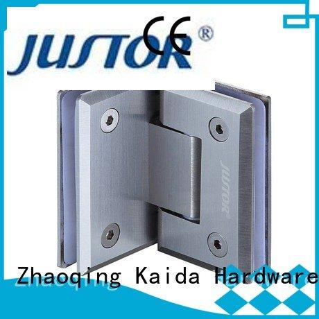 Hot glass to glass hinges 180 degree glass door hinges Stainless steel Kaida glass hardware