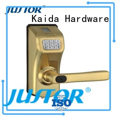 Hotel Custom wooden Guesthouse digital door lock Kaida glass hardware door