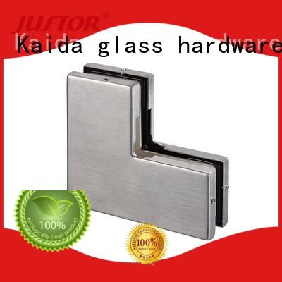 Kaida glass hardware frameless patch fitting glass door factory for offices