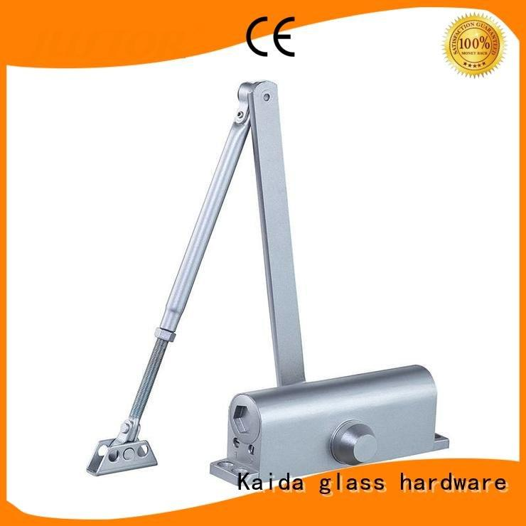 Kaida glass hardware door closer hardware Customized Color steel doors hotel rooms No frame glass