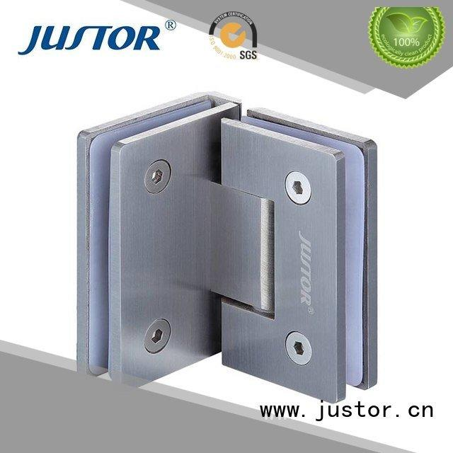 Kaida glass hardware Brand Shower room clip Stainless steel glass door hinges