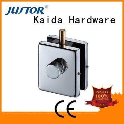 Kaida glass hardware Aluminum 10mm patch fitting 12mm zinc