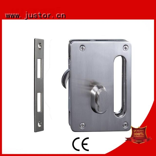 Office sliding glass door handle with lock glass Double side Kaida glass hardware Brand
