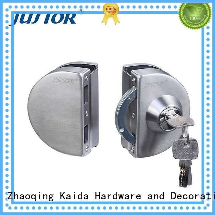Kaida glass hardware stainless steel sliding glass door lock directly sale for bathroom