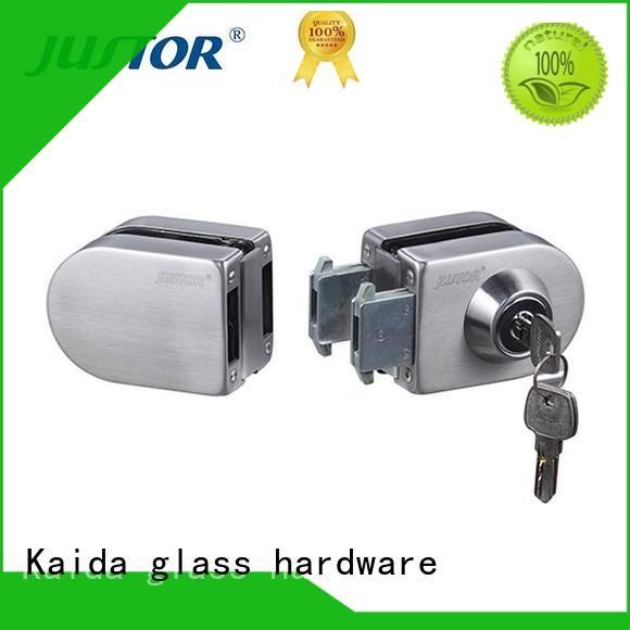 Kaida glass hardware professional frameless glass door lock series for bathroom