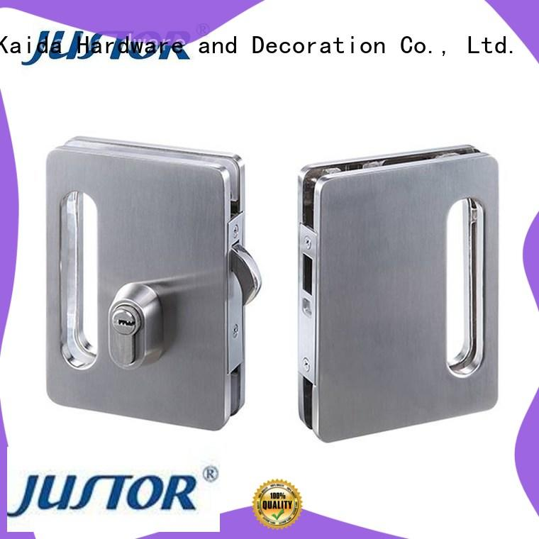 Kaida glass hardware quality types of sliding glass door locks stainless steel for offices