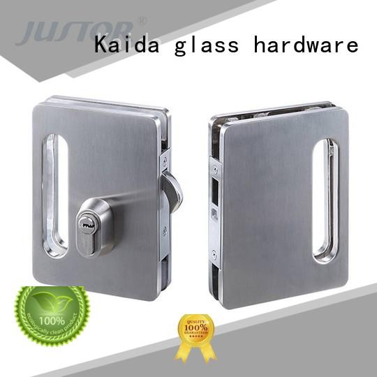 Kaida glass hardware aluminum glass door locks hardware wholesale for bathroom