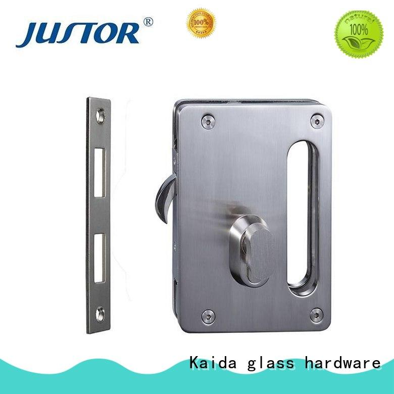 Kaida glass hardware half round glass door locks hardware from China for bathroom