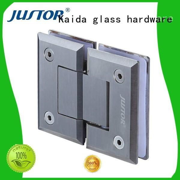 Kaida glass hardware hydraulic glass shower door hinges factory direct supply for hotels