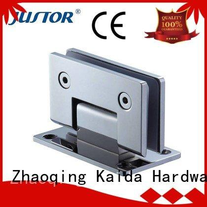 Kaida glass hardware glass to glass hinges Shower room 180 degree Stainless steel
