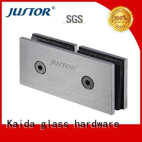 Custom Shower room glass door hinges 180 degree glass to glass hinges