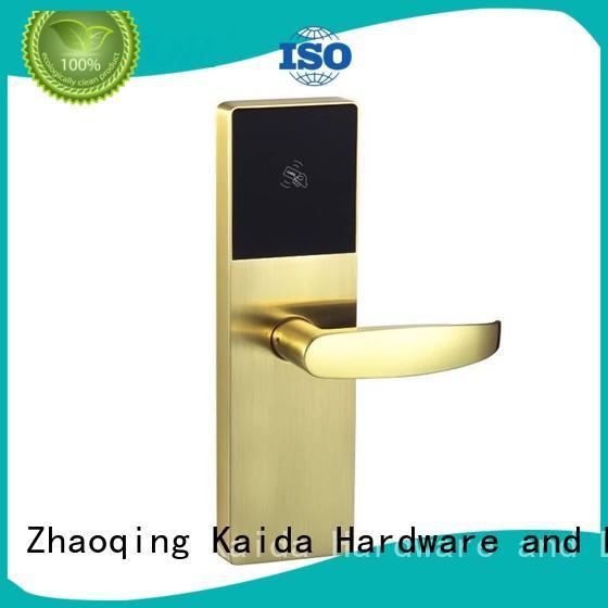 Quality Kaida glass hardware Brand electronic hotel locks Aluminum alloy lock