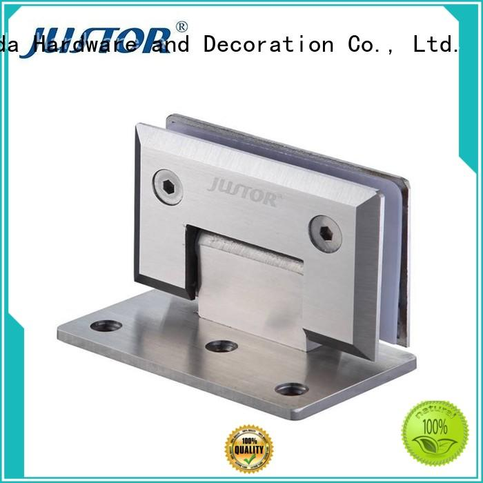 Kaida glass hardware high quality glass to glass shower door hinges supplier for bathroom