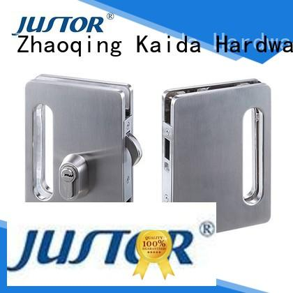 glass door lock stainless steel for offices Kaida glass hardware
