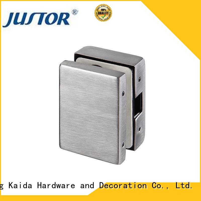 Kaida glass hardware reliable glass door patch hardware aluminum alloy body for conference room