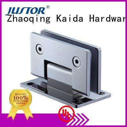 Custom glass door hinges Stainless steel toughened glass 180 degree Kaida glass hardware