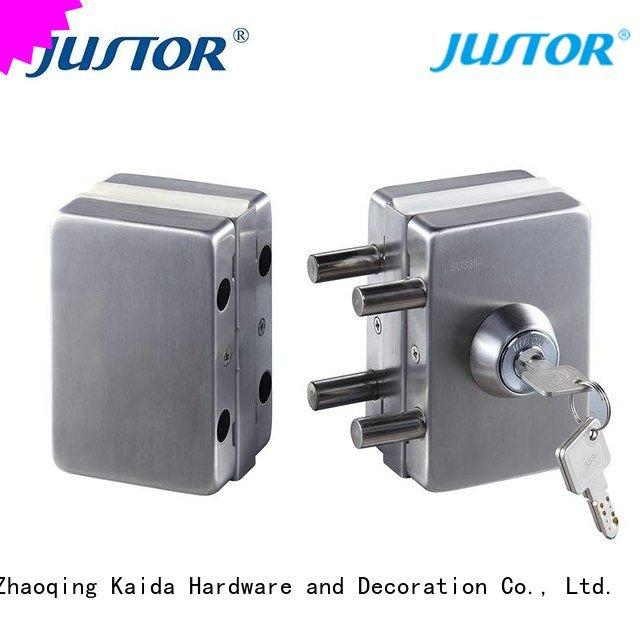 sliding glass door handle with lock door juw512 glass door lock Kaida glass hardware Warranty